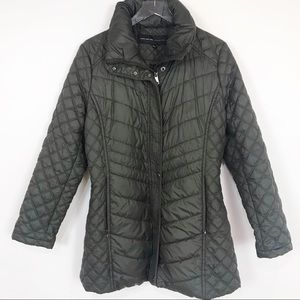 Andrew Marc Olive Green Quilted Puffer Coat